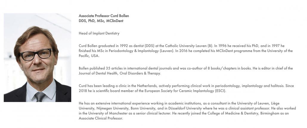 Team Comd: prof. dr. Curd Bollen